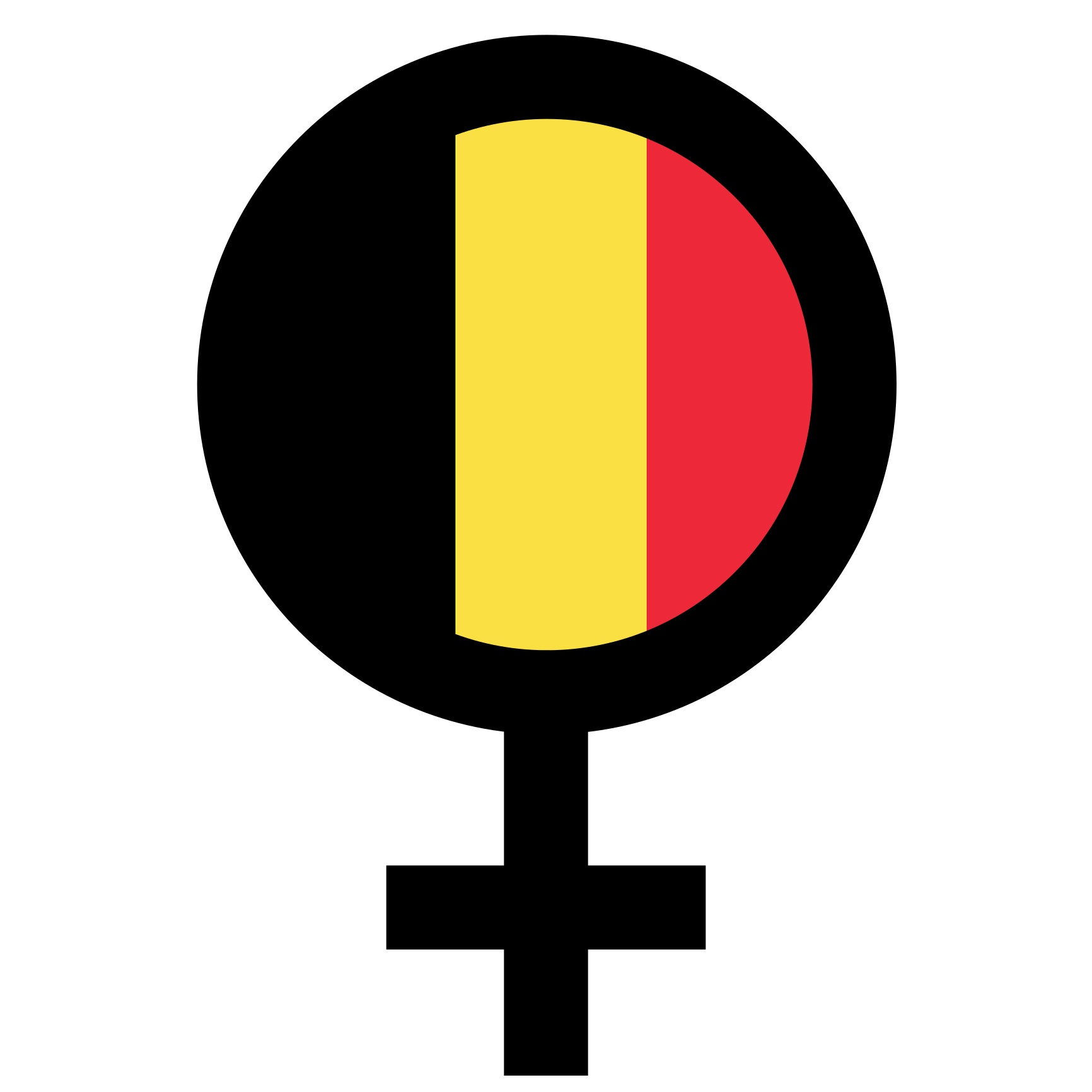 Belgian female symbol